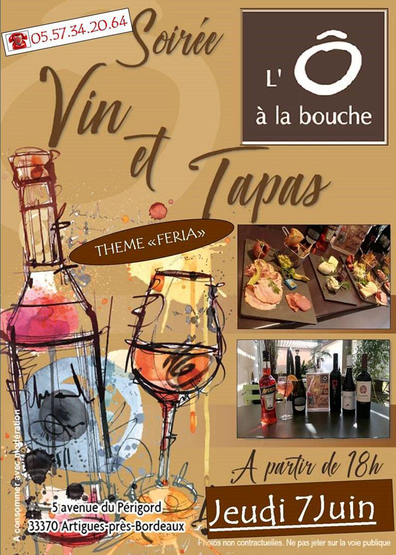 Vin et Tapas : Thème Feria